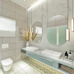 Bouyant Bloom (Nature Inspired Style Bathroom)