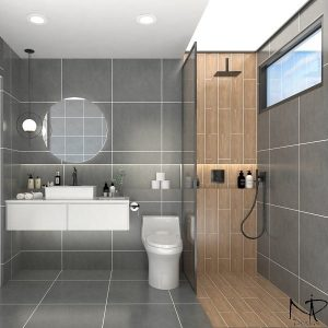 Mountain and Pine (Nature Inspired Style Bathroom)