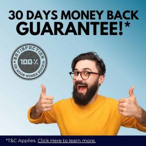 30 Days Money Back Guarantee!