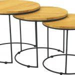 Eligio Nest Of 3 Round Coffee Table Natural